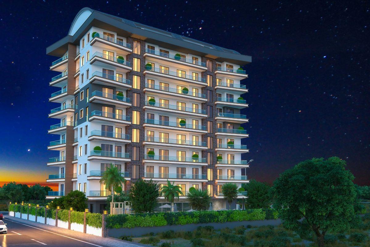 Новые квартиры в комплексе рядом с морем в Махмутларе - Фото 13
