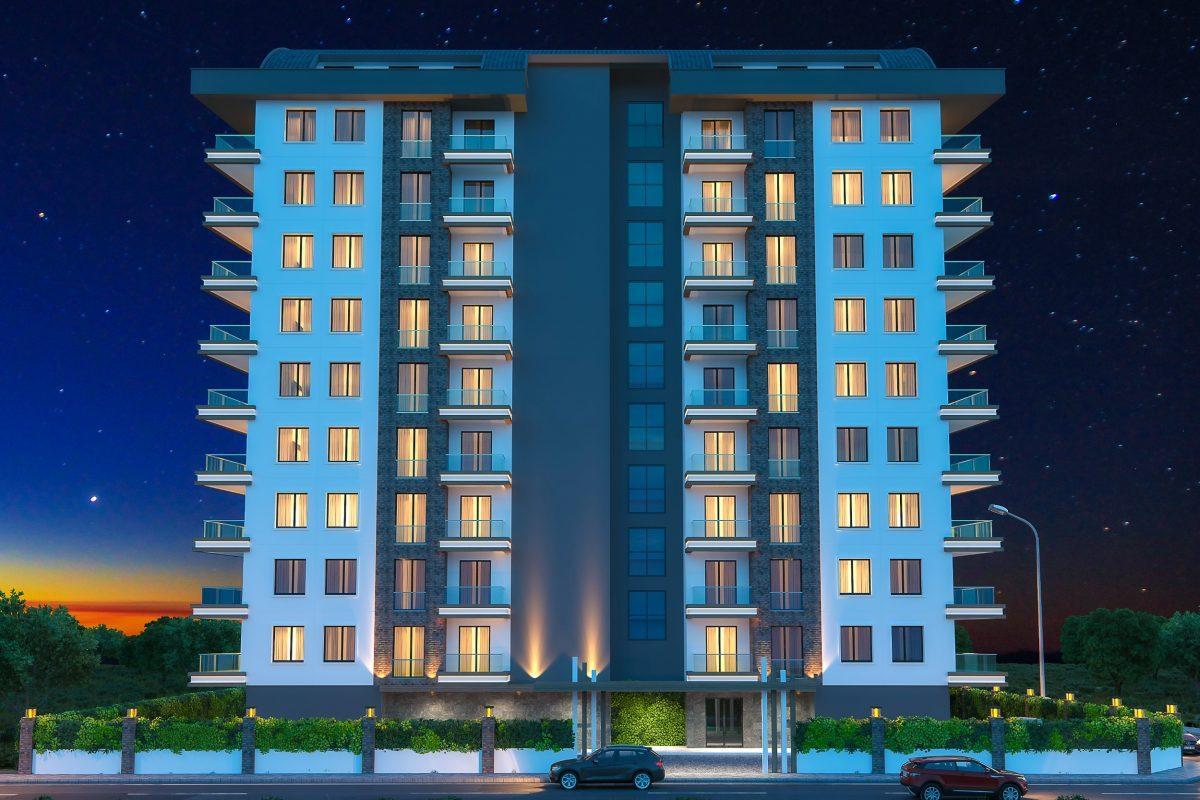 Новые квартиры в комплексе рядом с морем в Махмутларе - Фото 12