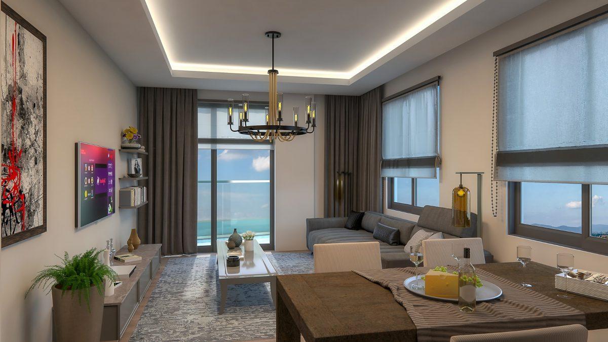 Новые квартиры в комплексе рядом с морем в Махмутларе - Фото 23