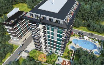 Квартиры в строящемся комплексе с хорошей инфраструктурой в Махмутларе