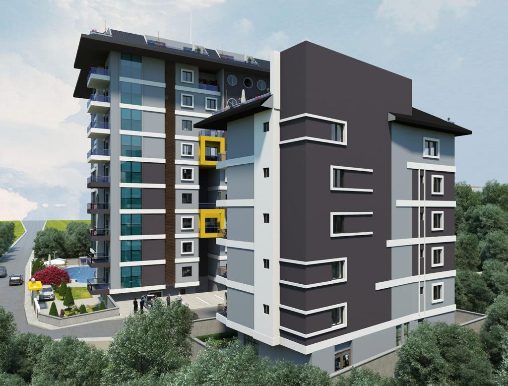 Квартиры в строящемся комплексе с хорошей инфраструктурой в Махмутларе - Фото 2