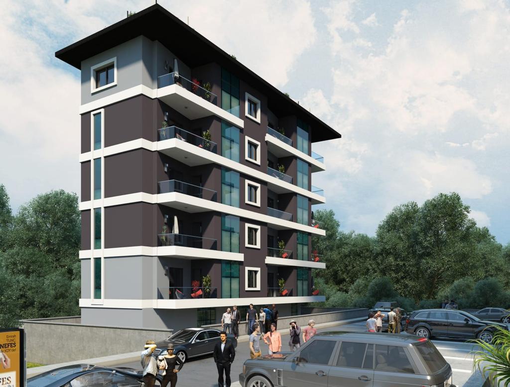 Квартиры в строящемся комплексе с хорошей инфраструктурой в Махмутларе - Фото 3