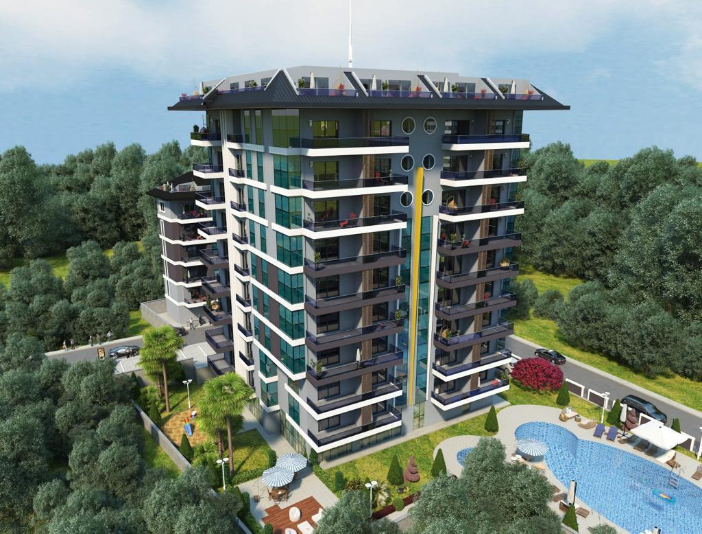 Квартиры в строящемся комплексе с хорошей инфраструктурой в Махмутларе - Фото 4