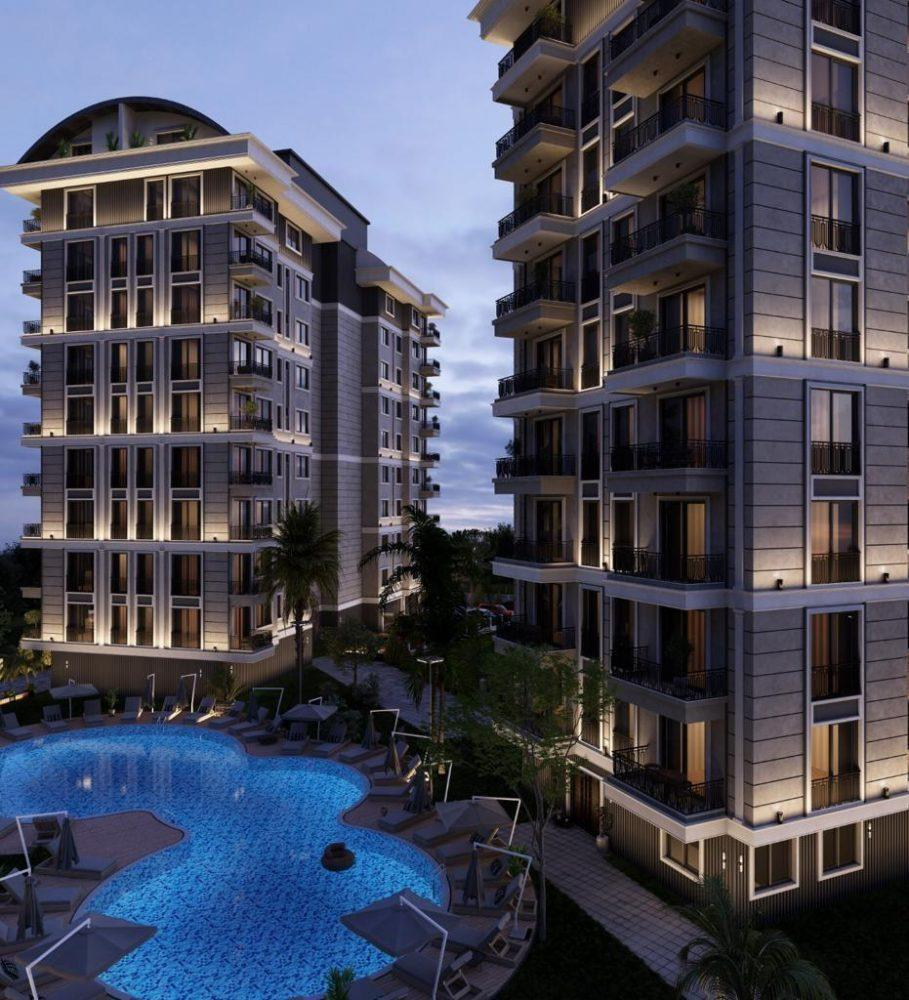 Строящийся комплекс в центре Алании с отельной инфраструктурой - Фото 3