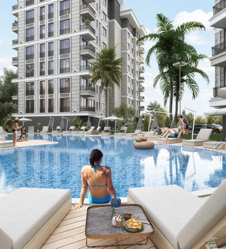 Строящийся комплекс в центре Алании с отельной инфраструктурой - Фото 6
